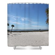 The Beach At The Isle Dauphine Shower Curtain