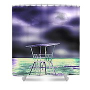 The Beach Electric. Shower Curtain