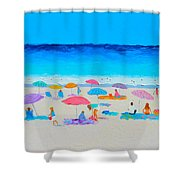 The Beach Holiday Shower Curtain