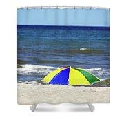 The Beach Is Mine Shower Curtain