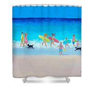 The Beach Parade Shower Curtain