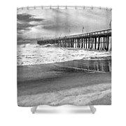 The Beach Pier Shower Curtain