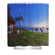The Beachombers Views Shower Curtain