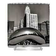 The Bean - 3 Shower Curtain