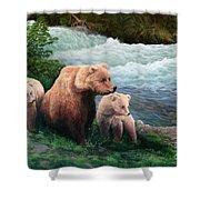 The Bears Of Katmai Shower Curtain