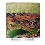 The Bear's Tooth Highway Summit Shower Curtain