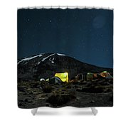 The Beast In The Night Shower Curtain