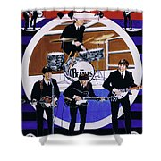 The Beatles - Live On The Ed Sullivan Show Shower Curtain
