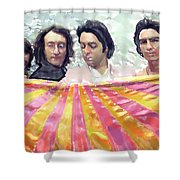 The Beatles. Watercolor Shower Curtain