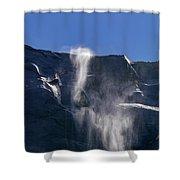 The Beautiful Bridalveil Falls Of Yosemite Shower Curtain