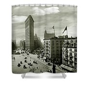 The Beautiful Flatiron Building Circa 1902 Shower Curtain
