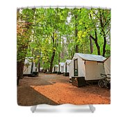 The Beautiful Half Dome Village Shower Curtain