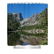 The Beautiful The Louch Lake With Reflection And Clear Water Shower Curtain