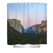 The Beautiful Tunnel View Of Yosemite Shower Curtain