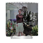 The Beautiful Young Woman Shower Curtain