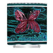The Beauty Of A Butterfly's Spirit Shower Curtain
