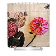 The Beauty Of A Dried Rose Shower Curtain