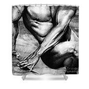 The Beauty Of A Nude Man Shower Curtain