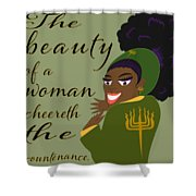 The Beauty Of A Woman Shower Curtain