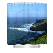 The Beauty Of Ireland's Cliff's Of Moher And Galway Bay  Shower Curtain