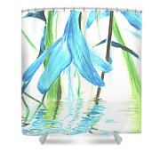 The Beauty Of Watery Reflection Shower Curtain
