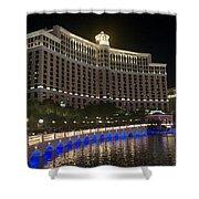 The Belagio A Night View Shower Curtain