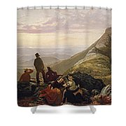 The Belated Party On Mansfield Mountain Shower Curtain