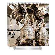 The Believe In Bells Shower Curtain