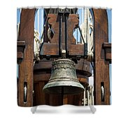 The Bell Of The Tall Ship Shower Curtain