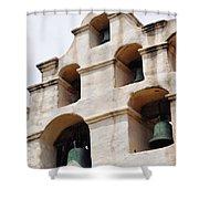 The Bells Of Mission San Gabriel Arcangel Portrait Shower Curtain