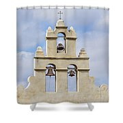 The Bells Of San Juan Shower Curtain by Mary Jo Allen