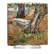 The Bench At Saint Remy Shower Curtain