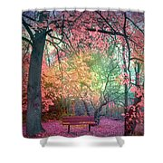 The Bench That Dreams Shower Curtain