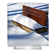 The Bench - The Guild Inn Shower Curtain