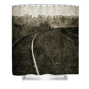 The Bend 4116 Bw_2 Shower Curtain