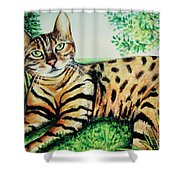 The Bengal Shower Curtain