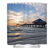 The Best Sunsets At Pier 60 Shower Curtain