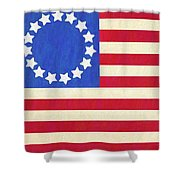The Betsy Ross Flag Shower Curtain