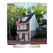 The Betsy Ross House Philadelphia Shower Curtain by Bill Cannon