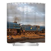 the Big Blue Engines  Shower Curtain