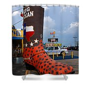 The Big Boot Shower Curtain