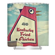 The Big Chicken Shower Curtain