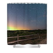 The Big Dipper Over The Lights Of Provincetown Ma Shower Curtain