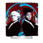 The Big Guns - Warhol And Basquiat Shower Curtain