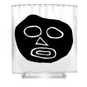 The Big Head Shower Curtain