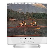 The Biglin Brothers Racing Shower Curtain