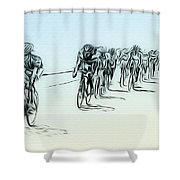 The Bike Race Shower Curtain