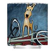 The Biker Shower Curtain