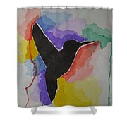 The Bird And Colors  Shower Curtain