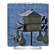 The Bird Hotel Shower Curtain